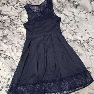 🆕️🎈Lace Trim Pleated A-Line Dress